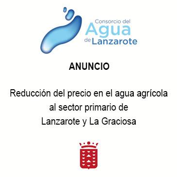 CONSORCIO DEL AGUA REDUCCION DEL PRECIO AGUA AGRÍCOLA