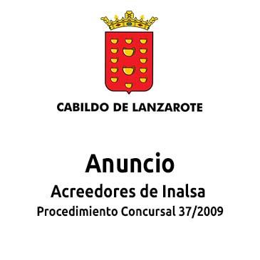 Anuncio - Acreedores de Inalsa Procedimiento Concursal 37/2009
